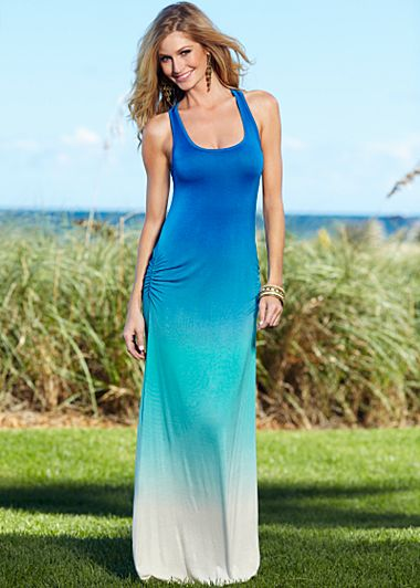 teal ombre maxi dress « Bella Forte Glass Studio