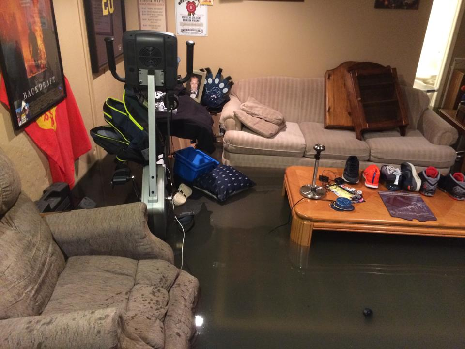 our basement flooded with sewage send drinks