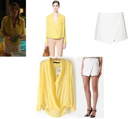 Zara Yellow Draped Blouse 44